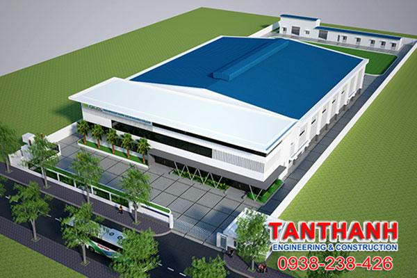 Thiết kế nhà xưởng khung thép tại Hậu Giang
