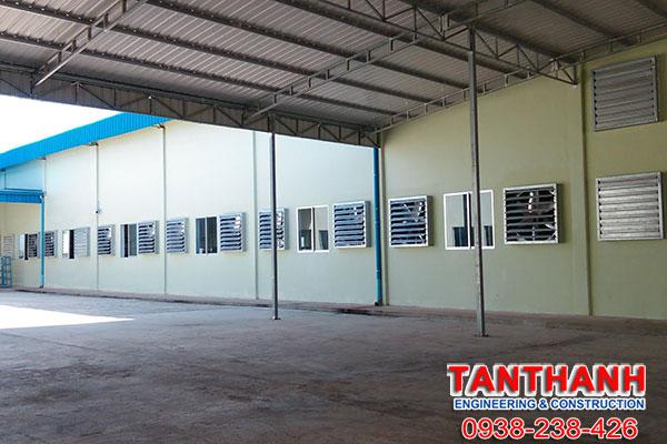 Thiết kế nhà xưởng tại Vĩnh Long bằng khung thép tiền chế