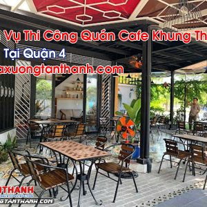 Quán Cafe Khung Thép Tại Quận 4