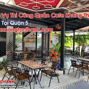 Quán Cafe Khung Thép Tại Quận 5