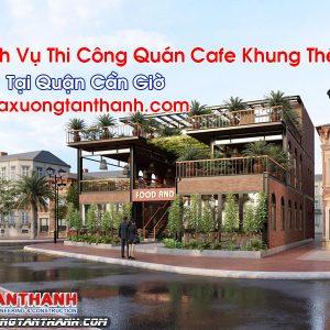 Quán Cafe Khung Thép Tại Cần Giờ
