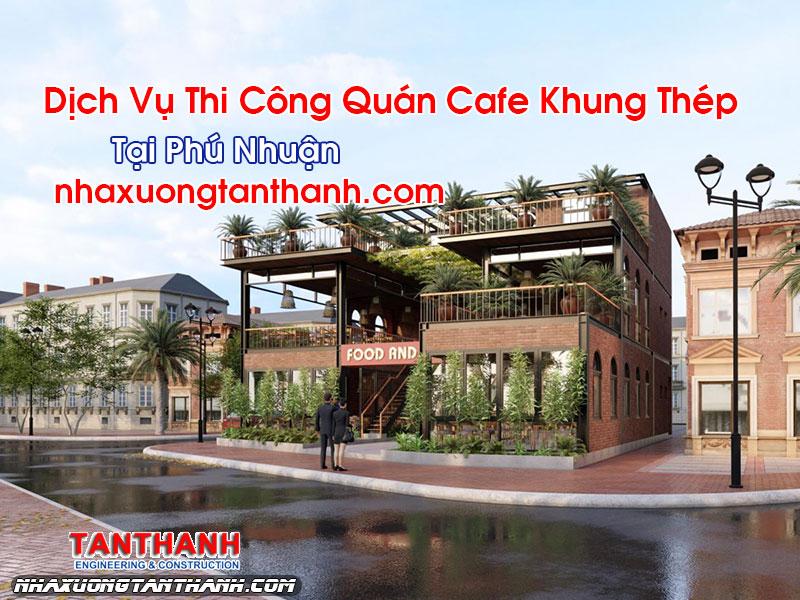 Quán Cafe Khung Thép Tại Phú Nhuận