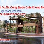 Quán Cafe Khung Thép Tại Tân Bình Thi Công Nhanh Chóng Gọn